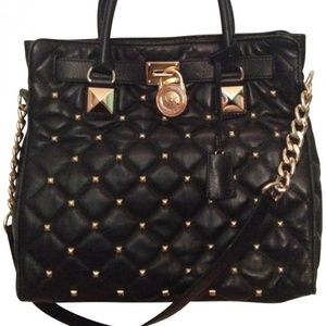 Michael Kors Hamilton Studded Quilted Leather Tote